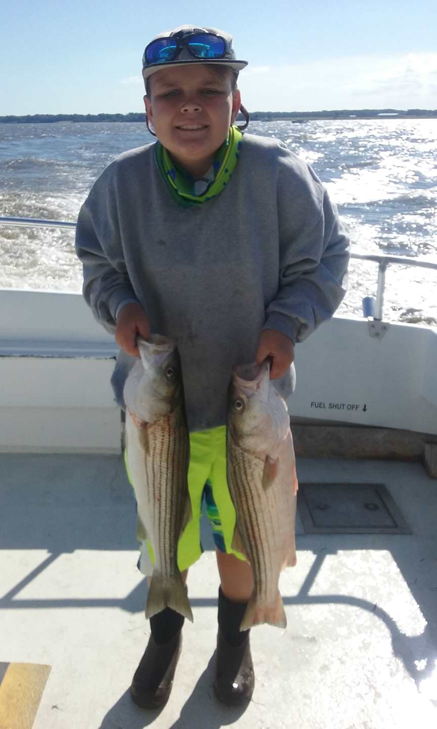 Light Tackle Fishing for Stripers on the Chesapeake Bay