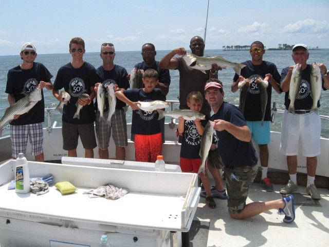 Chesapeake Bay Summer Striped Bass! Sawyer Chesapeake Bay Fishing Charters From Maryland's Eastern Shore!