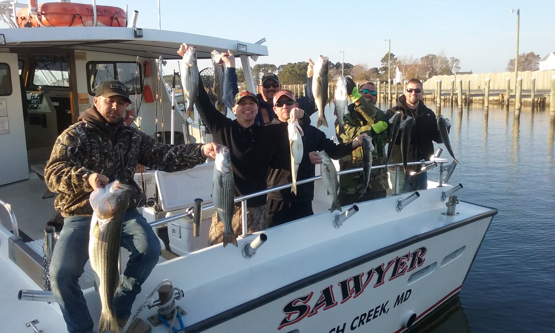 Trolling for Rockfish on Maryland's Chesapeake Bay!