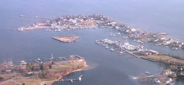 Aerial View of Solomons Island - Sawyer Chesapeake Bay Fishing Charters and Tours From Maryland's Eastern Shore!