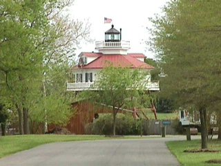 Drum Point Lighthouse at the Calvert Marine Museum
